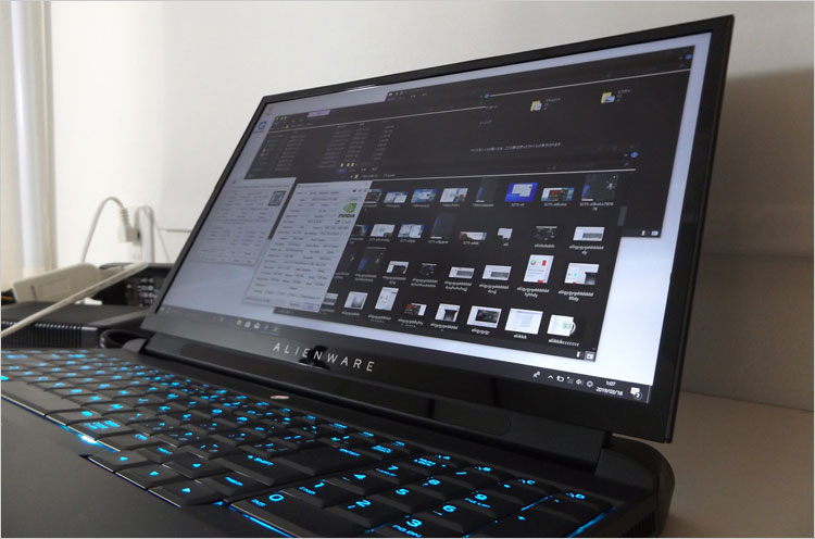ALIENWARE AREA-51MのIPSパネル