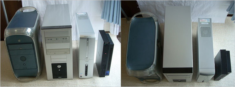 自作PC(WindowsXP)、Inspiron530s、PS2