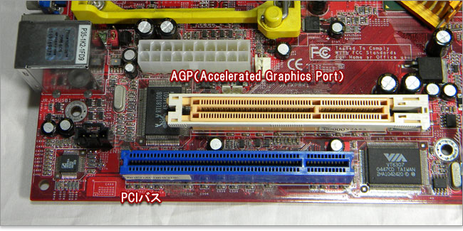 AGP(Accelerated Graphics Port)とPCI