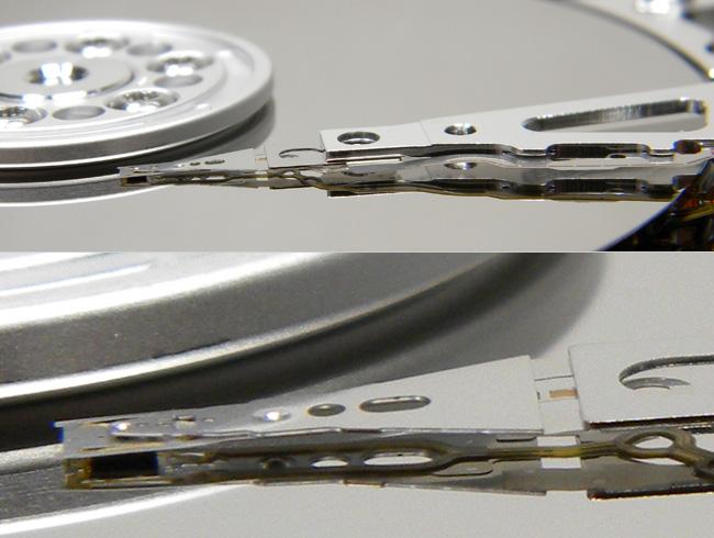 HDDの磁気ヘッド HDDの管理アドバイス!磁気ヘッド編~衝撃とタバコには注意 HDDが壊れやす