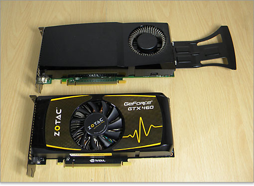 GeForce GTX 260。下がGeForce GTX 460。